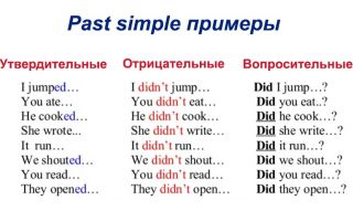 Past simple – простое прошедшее время в английском языке. основные правила и примеры.