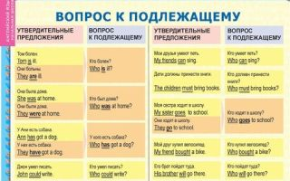 Вопрос к подлежащему в английском языке: основные правила с примерами