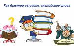Как быстро выучить английские слова: методики, советы по выбору лексики